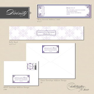 printable diy wedding invitation suite