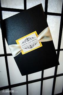 monogrammed wedding invitation design