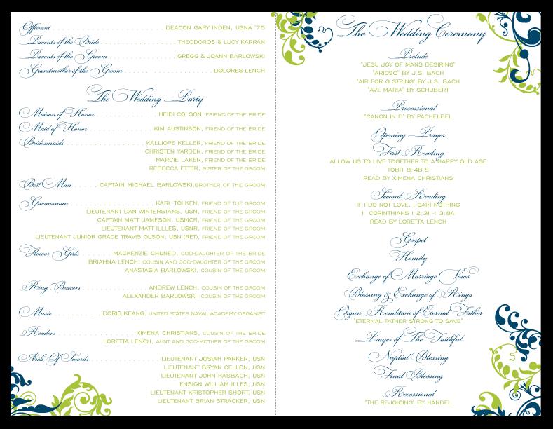 Belletristics Stationery Design And Inspiration For The DIY Bride Custom Ceremony Program And