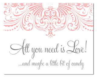 custom flourish candy buffet sign
