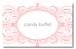 custom flourish candy buffet tags