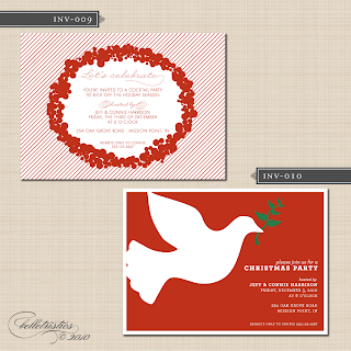 printable diy holiday christmas new years party invitations
