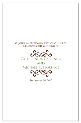custom ceremony program cover