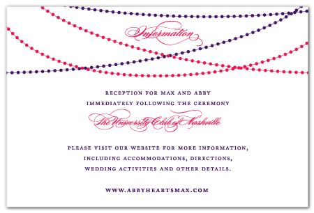 custom information card insert