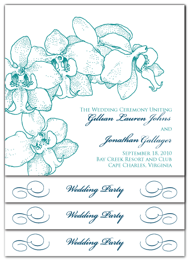 custom orchid stacked ceremony program design