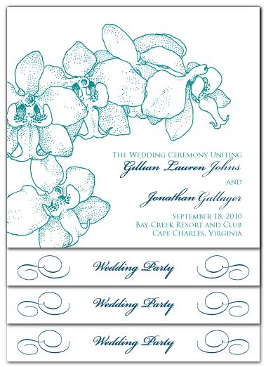 custom orchid stacked ceremony program design