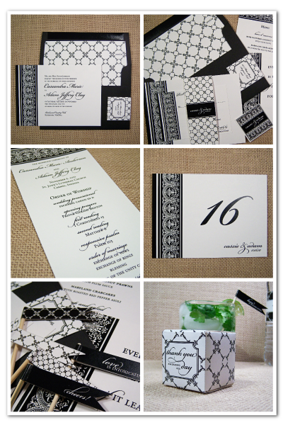 adore damask lace ready made wedding stationery design suite