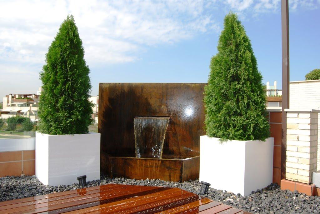 aticos y terrazas elementos de decoracion agua