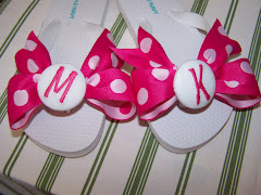 Pink and White Polka Dot Flip Flops