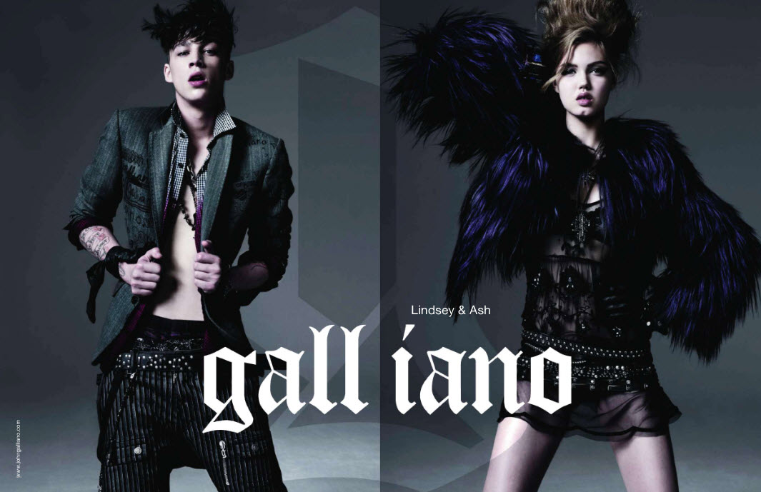 john galliano logo. john galliano designs.