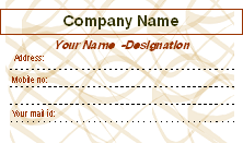 Printable Business Card Templates
