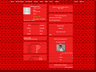 Red Skinny Myspace Layouts