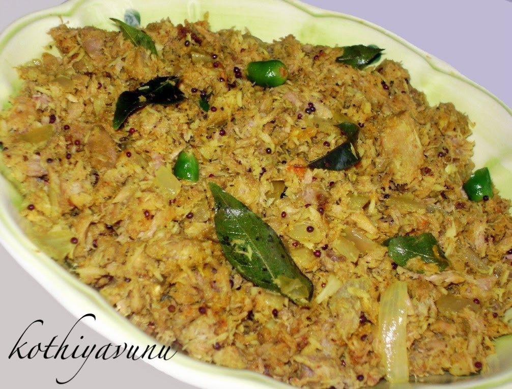 Choora meen thoran tuna thoran tuna stir fried with for Recipes with tuna fish