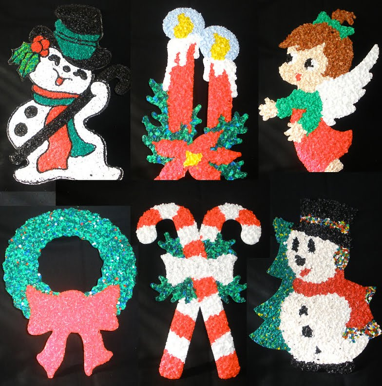 vintage mid century 1950s christmas decorations