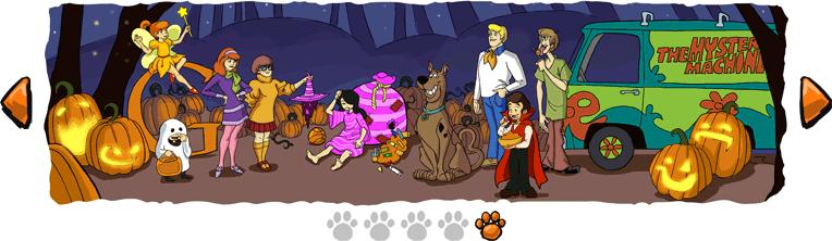 Quinta Imagen de la tira de Scooby Doo que publico para Halloween