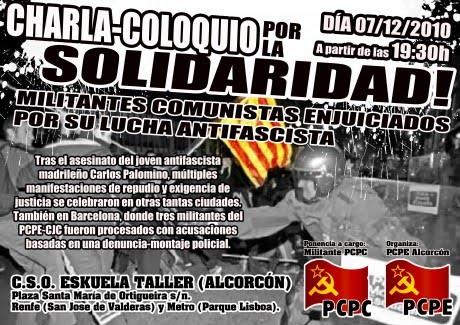 [Alcorcón] Acto en solidaridad con los camaradas enjuiciados de los JCPC-PCPC Cartel_07-12-20101