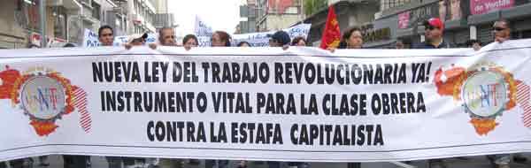 LOS TRABAJADORES VENEZOLANOS EXIGIMOS A LA AN QUE APRUEBE ESTE AÑO LA LOT Y LA LCT
