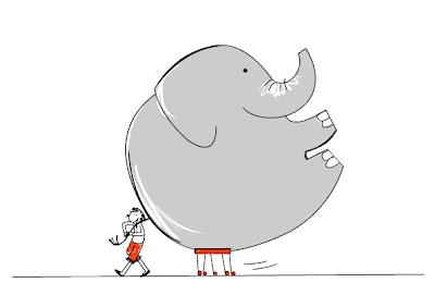 Egy elefánt sétáltatása
