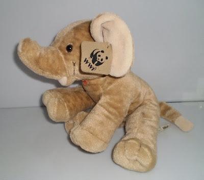 Plüss elefánt Angliából
