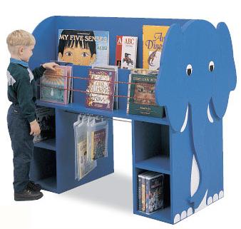 Elefántos könyvespolc