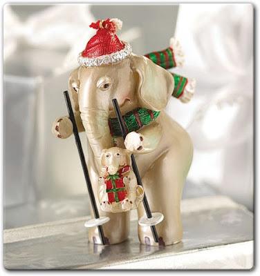 Síelő elefánt