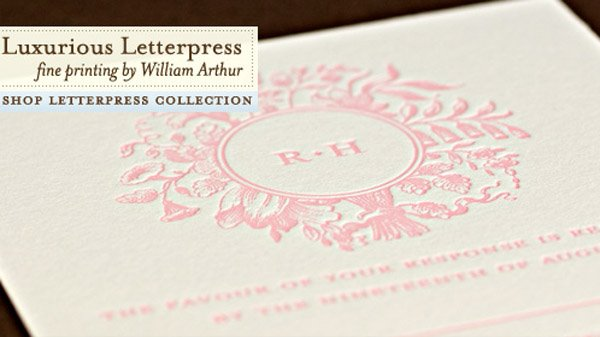 custom letter press wedding invitation sample from wedding paper divas