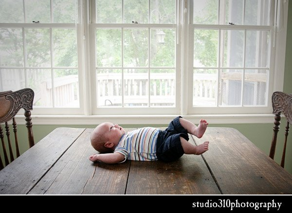 baby photography with antique furniture by studio 310 in eastern north carolina
