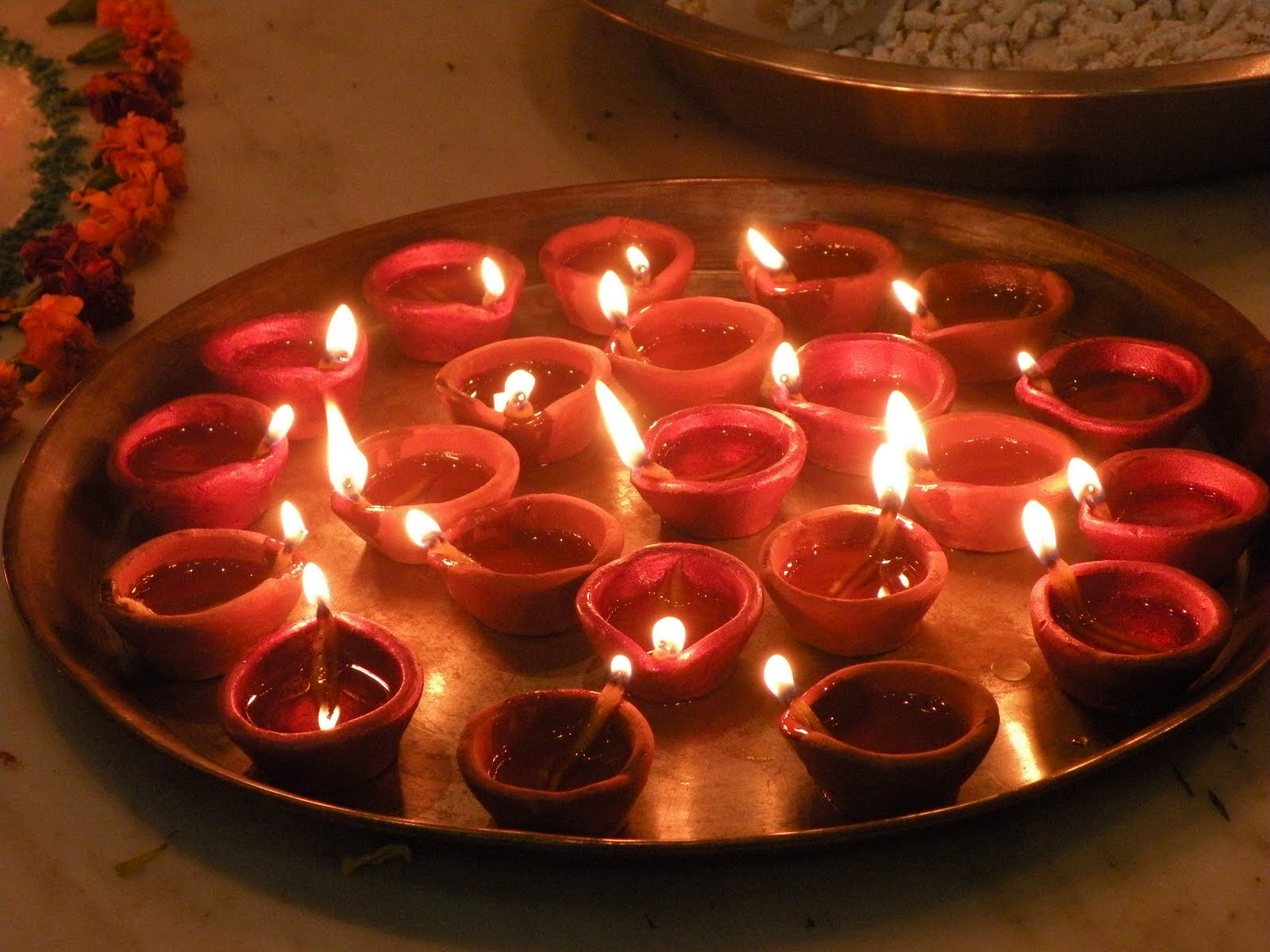 Lighting of Diya Or Lighting a Lamp