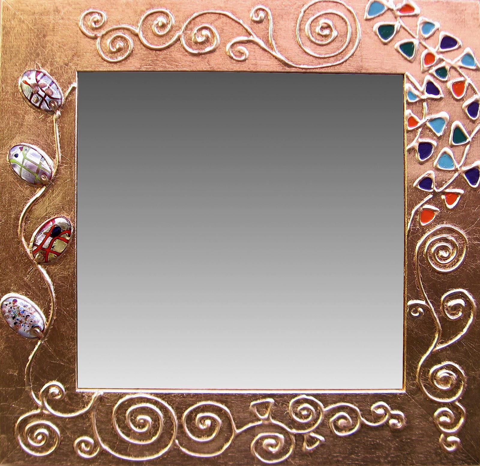 Oro argento e fantasia - Specchio antichizzato ...