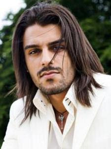 long straight hairstyles for men