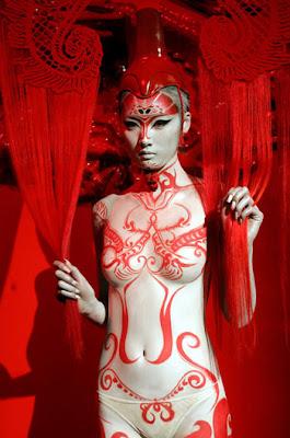 peinture corps chine dragon