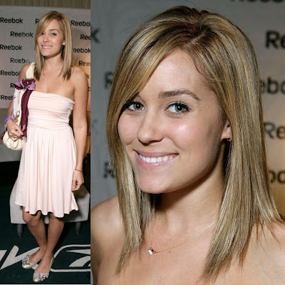Celebrity Lauren Conrad Straight Prom Hair Style