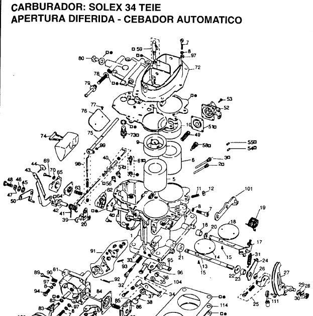 Despieces Y Reglajes De Carburadores Holley  Weber  Solex  Brosol     Despiece Carburador Solex