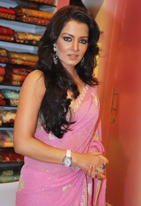 celina jaitley pink saree baby doll hot photoshoot