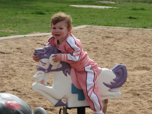 Kaydence Riding the horse.
