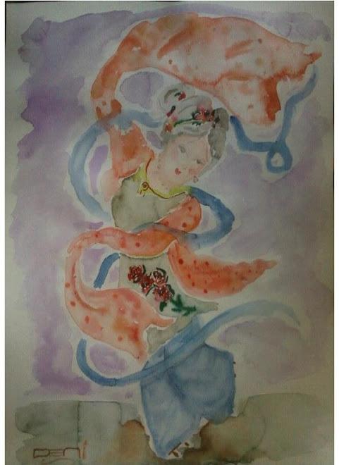 Minha arte/ Gueixa em aquarela