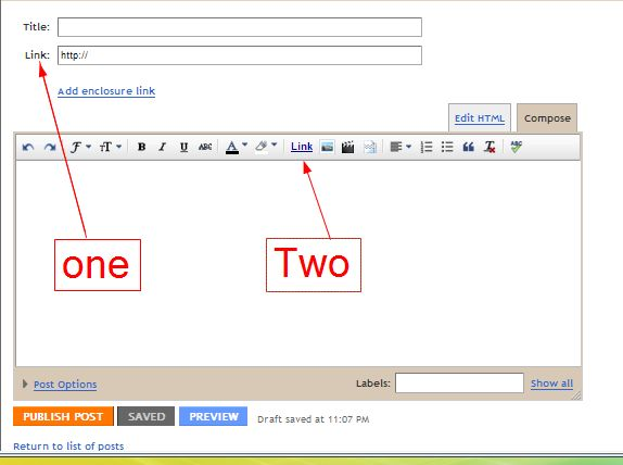 How to link to another site