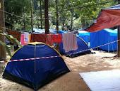khemah semasa percutian di taman negara endau rompin
