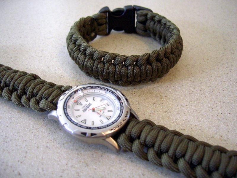 Браслет для часов из шнурков