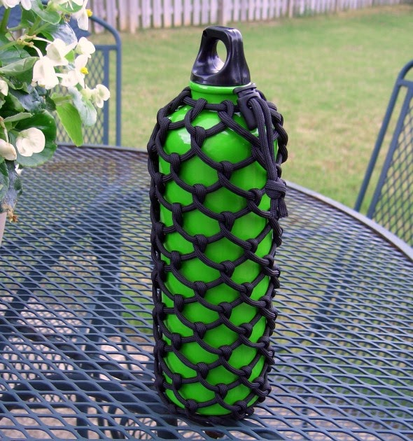 Stormdrane 39 s blog half hitched paracord water bottle for What can you make out of paracord