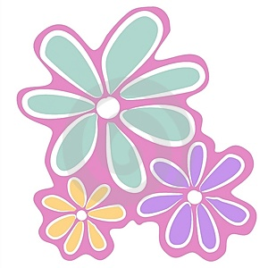 abstract pink flowers clip art thumb