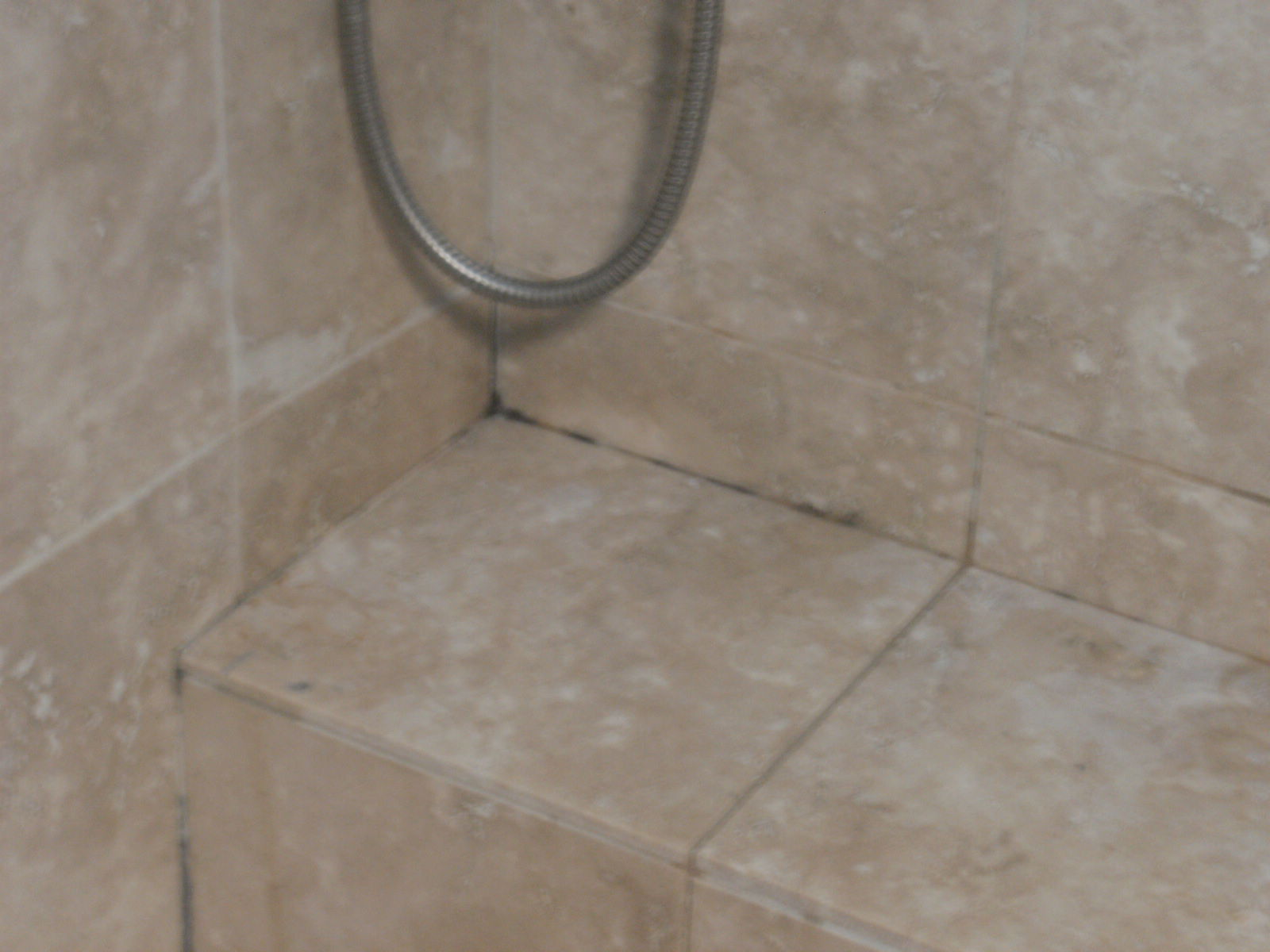 Black Mold Strachybotrys Atra And Travertine Tile Confessions Of - Best way to get rid of mold in shower grout