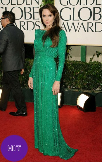 angelina jolie dress golden globes 2011. Angelina looks fabulous for a