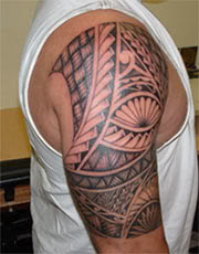 Tribal Tattoo, Polynesian Tattoo, Shoulder Tattoo, Traditional Tattoo