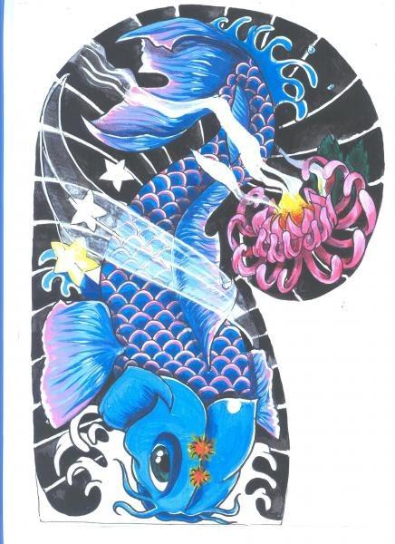 New business finance funding japanese koi fish tattoo designs for Japanese koi carp tattoos