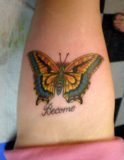Nice Arm Butterfly Tattoo Designs