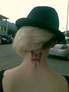 Nice Neck Tattoo Ideas With Butterfly Design  Image For Female Galleries