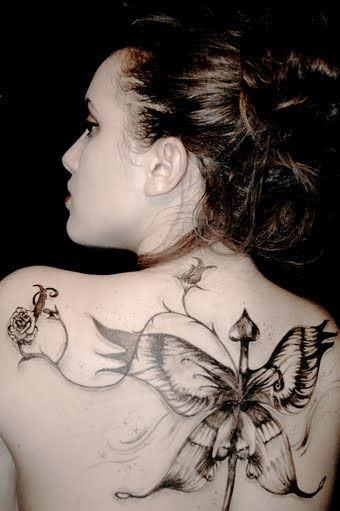 Tribal Tattoo: Nice Upper Back Tattoo Ideas With Butterfly ...