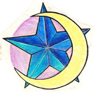 Nice Star Tattoos With Image Tattoo Designs Especially Star Moon Tattoo Picture 2