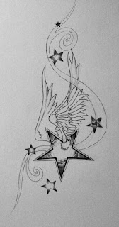 Nice Star Tattoos With Image Tattoo Designs Especially Wings Star Tattoo Picture 6